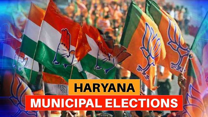 Winner candidates list haryana municipal election,bjp winners list, congress winners list,jjp winner