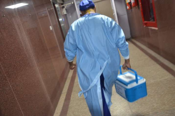 The heart was successfully transplanted into the patient at