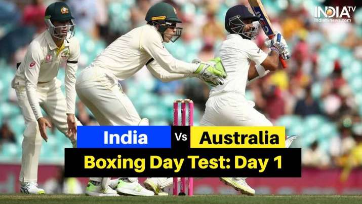 India Vs Australia 2nd Test Day 1 Highlights Team India On Top After Action Packed Opening Day At Mcg Cricket News India Tv