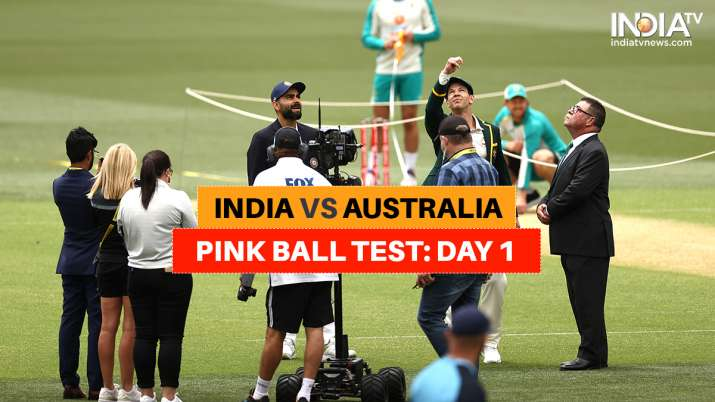 Live Cricket Score India vs Australia 1st Test: Follow ball-by-ball of IND vs AUS Day/Night Test fro