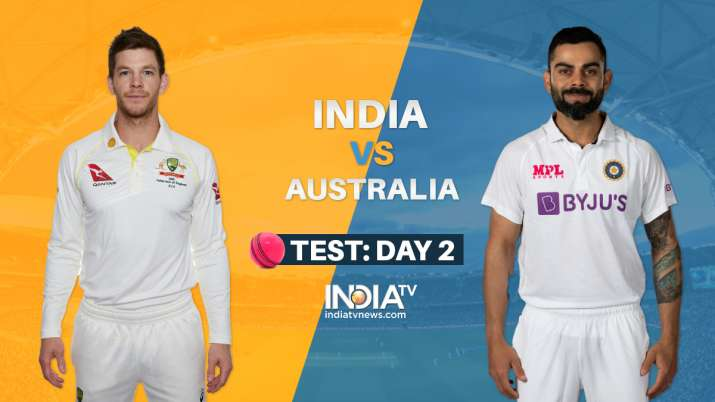 Live Cricket Score India vs Australia 1st Test Day 2: Live Updates from Pink Ball Test in Adelaide