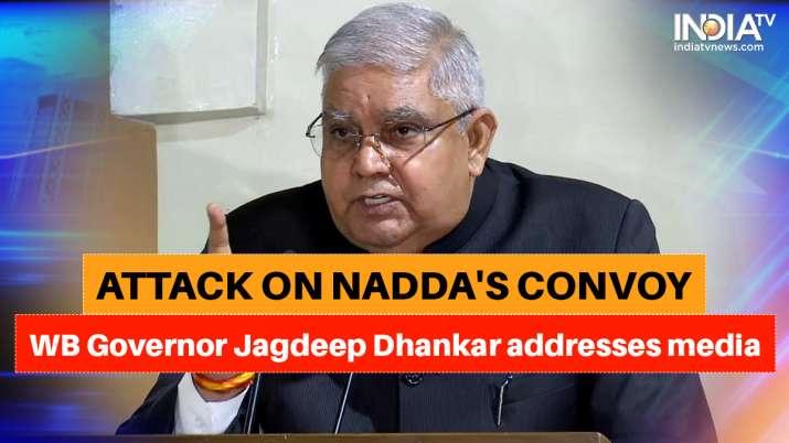 jagdeep dhankar, nadda convoy attack