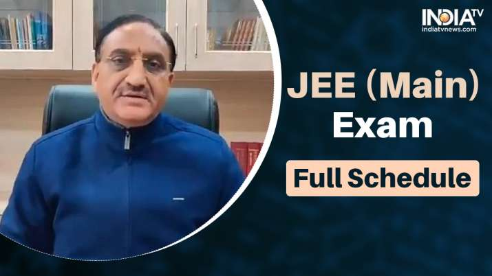 jee main exam dates, jee main exam dates, jee main exam full schedule, education minister ramesh pok