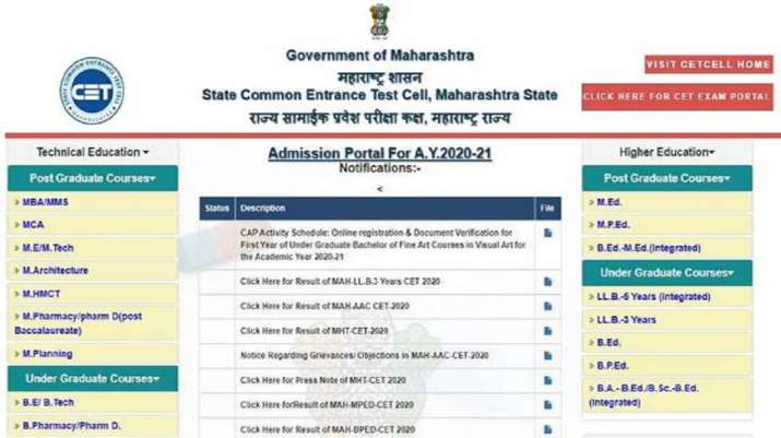 MHT CET Result 2020: Maharashtra CET Result for Vocational Courses to be declared shortly