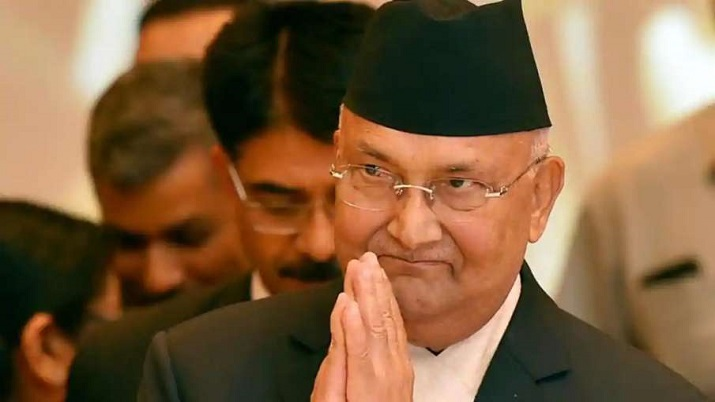 Nepalese Prime Minister K P Sharma Oli