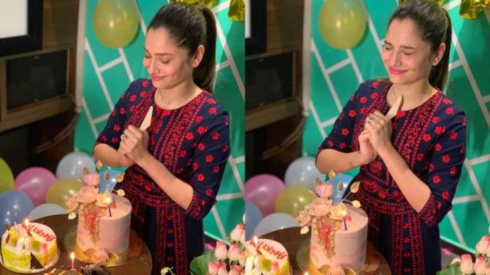 Ankita Lokhande's mid-night birthday bash with beau Vicky Jain