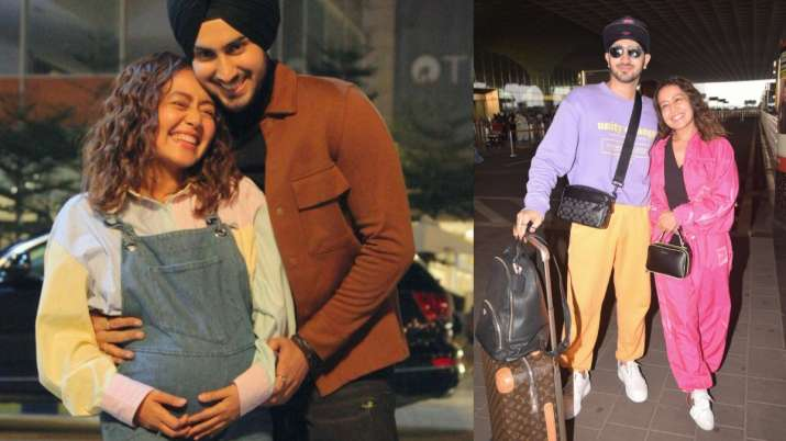 Neha Kakkar flaunts baby bump in new post with husband Rohanpreet Singh