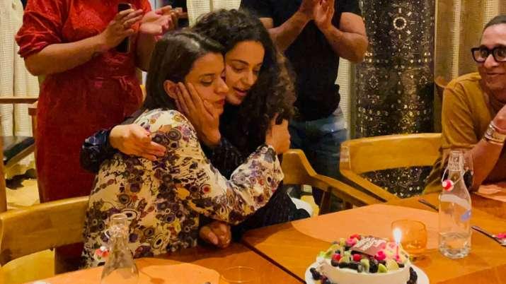 Kangana Ranaut shares pictures from sister Rangoli's birthday celebrations