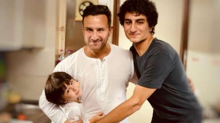Kareena Kapoor shares photo of Saif Ali Khan with sons Ibrahim and Taimur