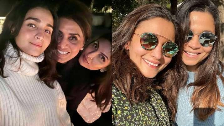 Riddhima Kapoor, Alia Bhatt, Neetu Kapoor