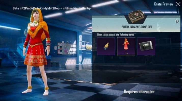 PUBG Mobile India welcome gift pack spotted online: Anarkali Headgear, Classic Crate Coupon - India TV News