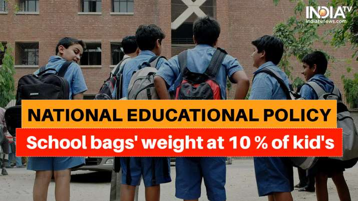 school bag weight, national education policy