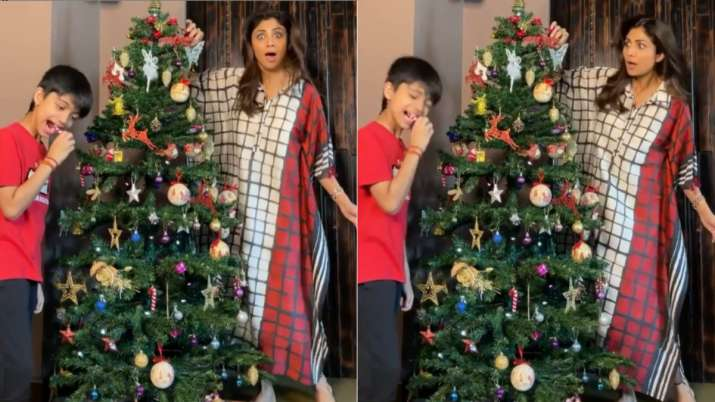 What is Shilpa Shetty's favourite Christmas tradition?
