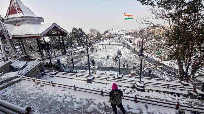 India Tv - Shimla, Snowfall, snow, coldwave