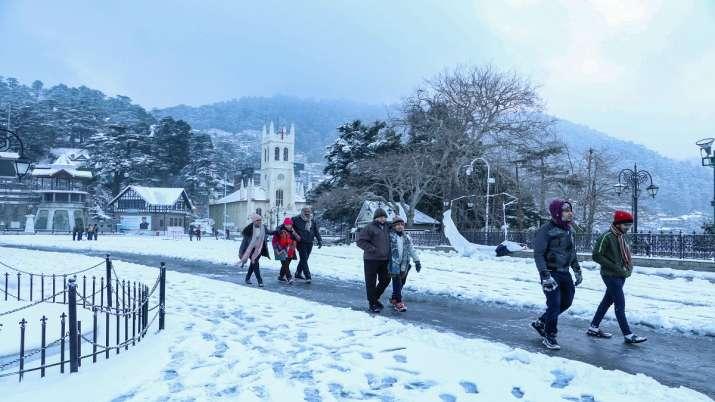 Shimla, snowfall, snow