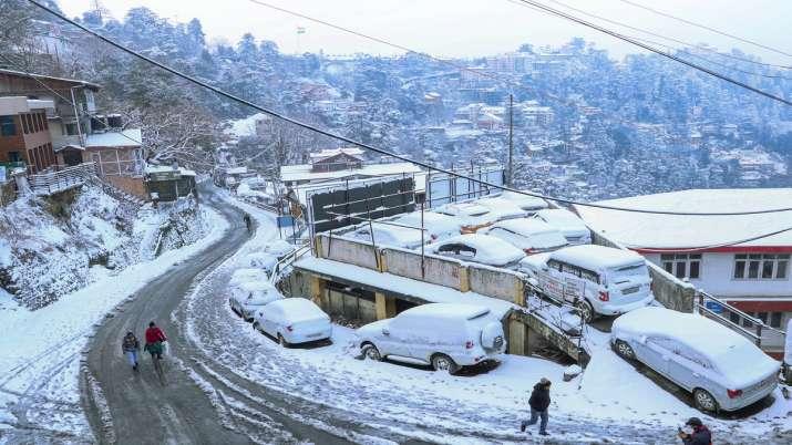 India Tv - Shimla, snowfall