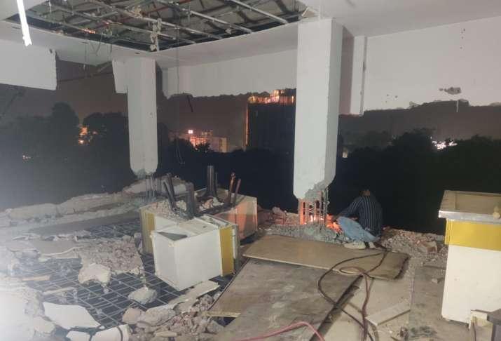 India Tv - Lucknow: 3-storey Dragon mall bulldozed in crackdown against land mafia