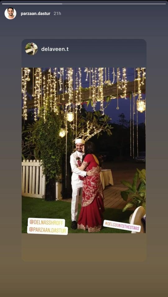 ইন্ডিয়া টিভি - ছোট্ট সারদার ওরফে পারজান দস্তুর কুছ কুছ হোতা হ্যায় খ্যাত বান্ধবী ডেলনা শ্রফের সাথে বিয়ে করলেন