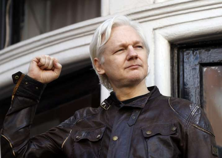 FILE - In this May 19, 2017 file photo, WikiLeaks founder
