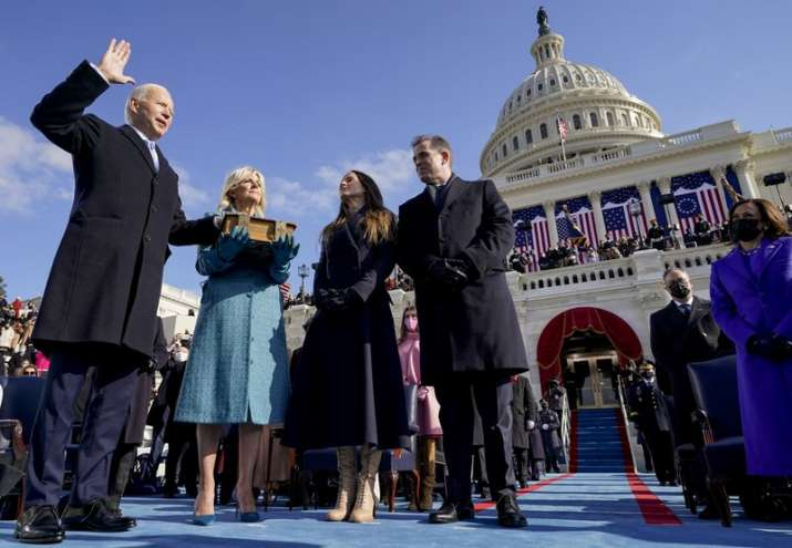 Joe Biden is sworn in as the 46th president of the United