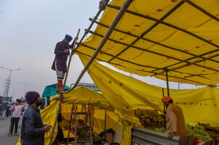Farmers in no mood to relent! Build concrete structures, waterproof tents at protest sites
