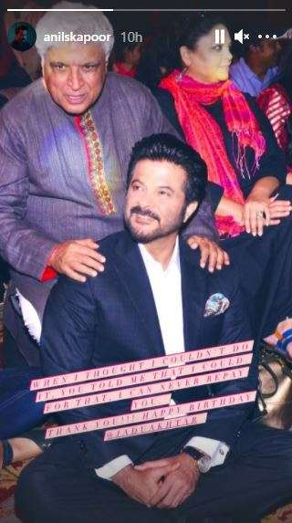 India Tv - Anil Kapoor wishes Javed Akhtar