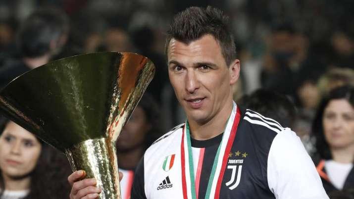 In this May 19, 2019 file photo, Juventus' Mario Mandzukic