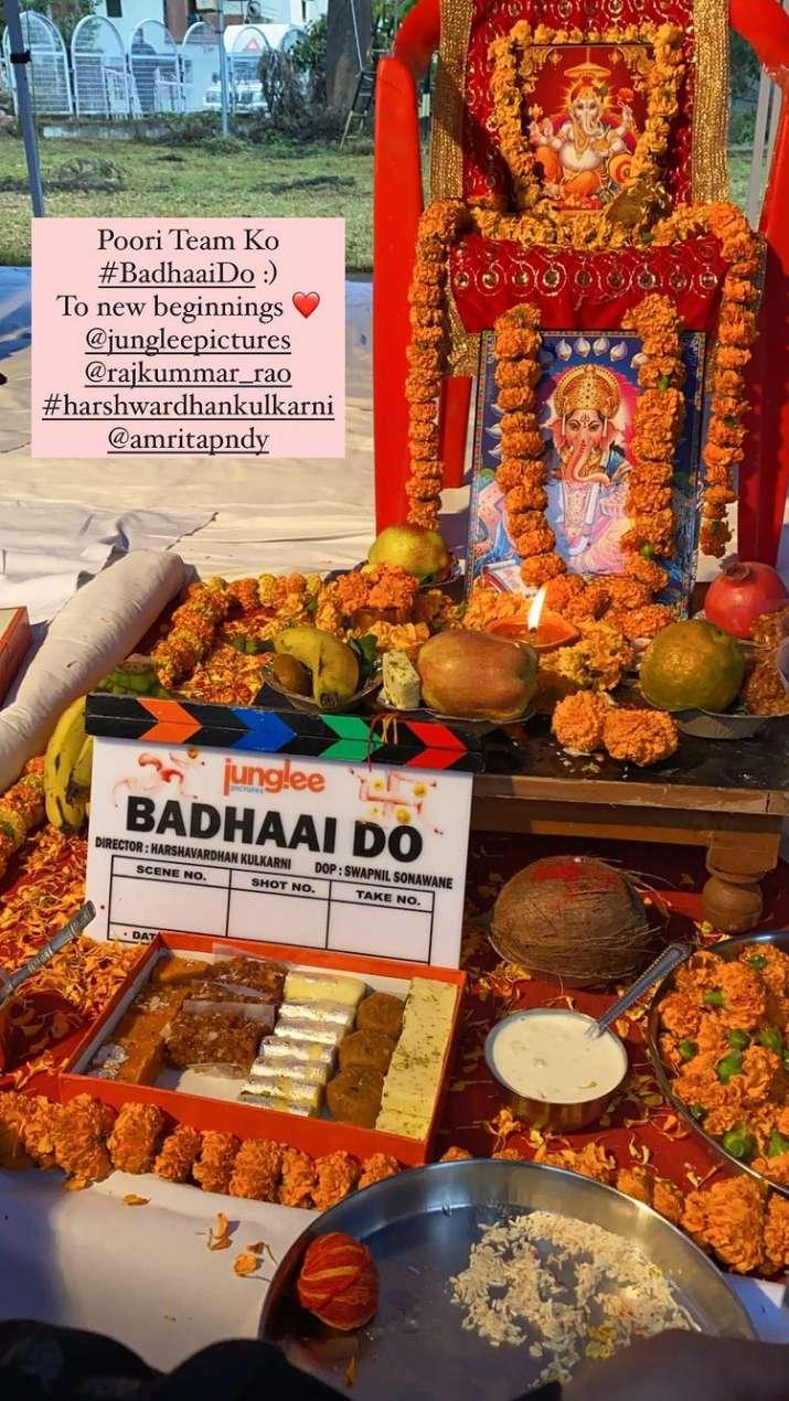 India Tv - Rajkummar Rao, Bhumi Pednekar begin shooting for 'Badhaai Do'