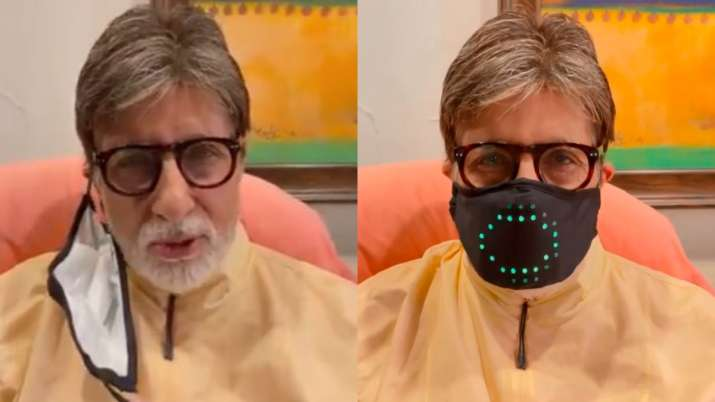 Amitabh Bachchan's high-tech mask leaves grand kids Navya and Agastya Nanda in splits. Watch video