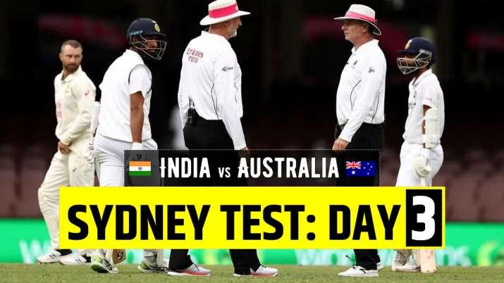 Live Cricket Score India vs Australia 3rd Test Day 3: