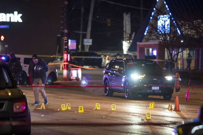 Chicago and Evanston police investigate a crime scene after a gunman went on a shooting spree before