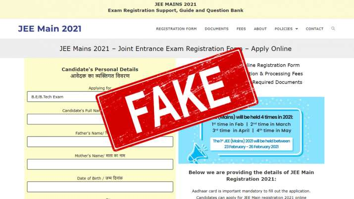 JEE Aspirants Attention! Beware of fake websites