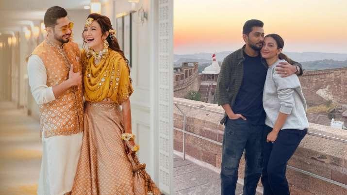 Tandav actress Gauahar Khan, Zaid Darbar are honeymooning in Udaipur. Seen their love-filled pics ye