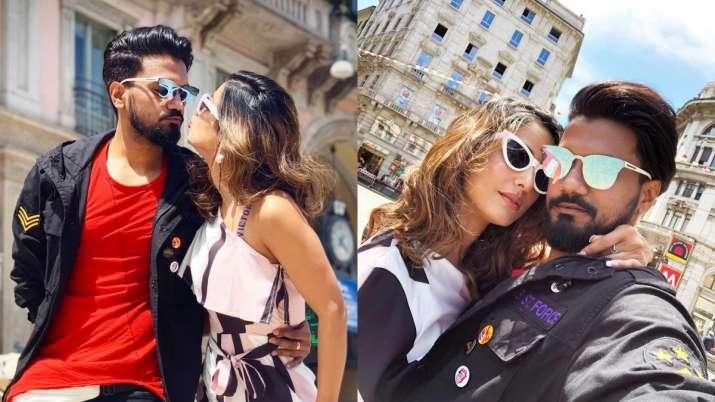 Hina Khan's beau Rocky pens romantic shayari, shares vacation pics from Milan