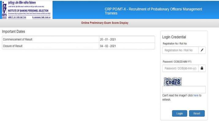 IBPS PO Score Card released. Direct link to download