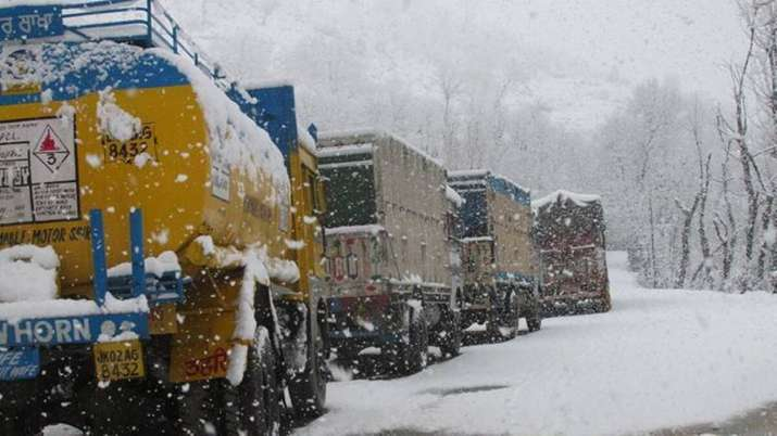 Jammu-Srinagar highway restored, stranded traffic being cleared