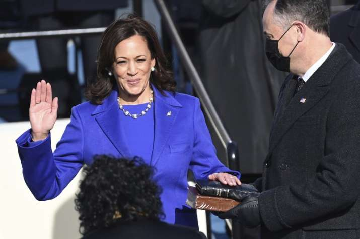 'We will rise up. This is American aspiration,' says Vice President Kamala Harris