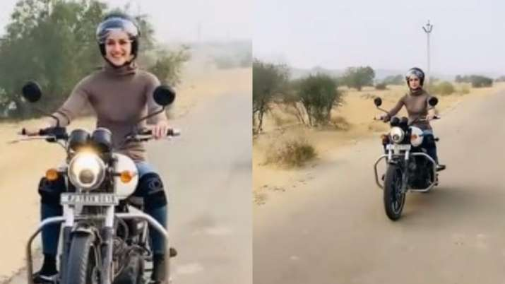 Kriti Sanon fulfills her biking fantasy