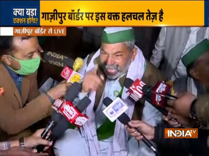 Ghazipur border news, rakesh tikait news, rakesh tikait surrender news, farmers protest,