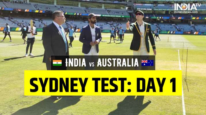 Live Cricket Score India vs Australia 3rd Test Day 1: Follow Live Updates from Sydney