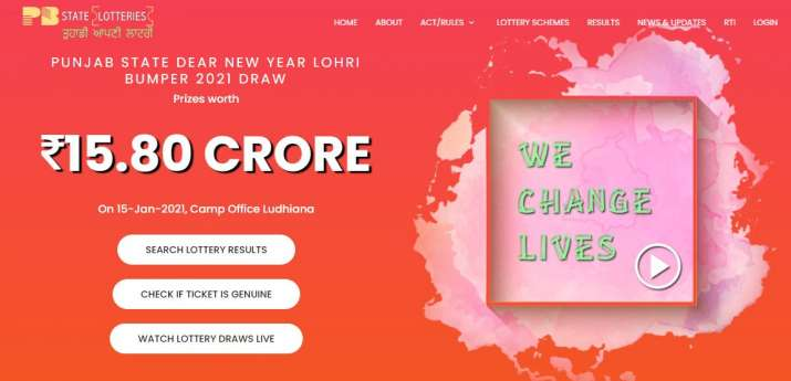 Punjab State Dear New Year Lohri Bumper Lottery Result 2021