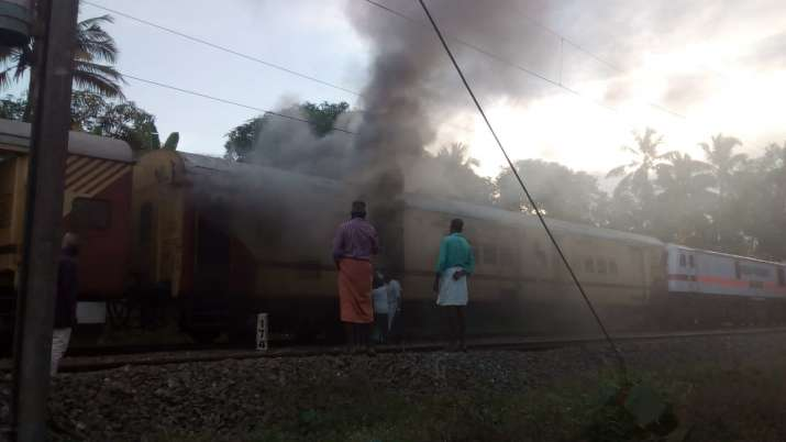 Fire in parcel van of Malabar Express in Kerala