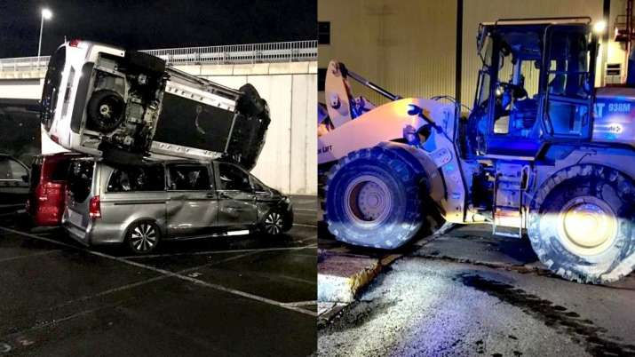 Former Mercedes employee steals JCB & destroys cars worth $6 million. But WHY?