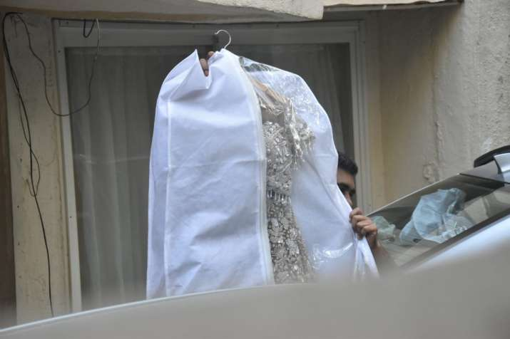 India Tv - Bride-to-be Natasha Dalal's wedding outfit
