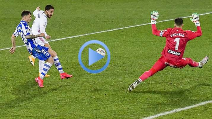 Watch Eden Hazard Shines For Zidane Less Real Madrid In Win Over Alaves Football News India Tv