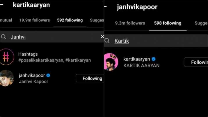 India Tv - Kartik Aaryan, Janhvi Kapoor