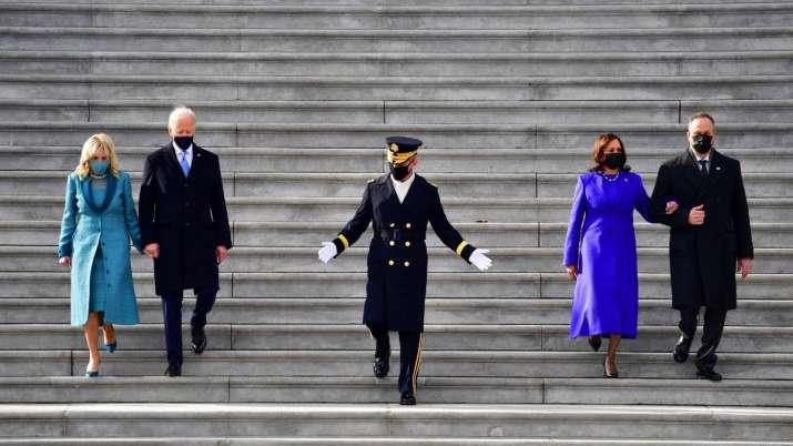 India Tv - US first lady, Dr Jill Biden, Vice-President, Kamala Harris