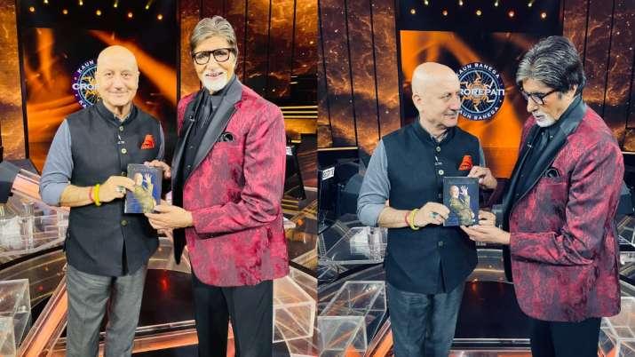 Anupam Kher, Amitabh Bachchan