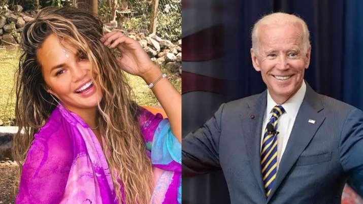 Chrissy Teigen followed by Joe Biden's POTUS on Twitter after being blocked by Donald Trump