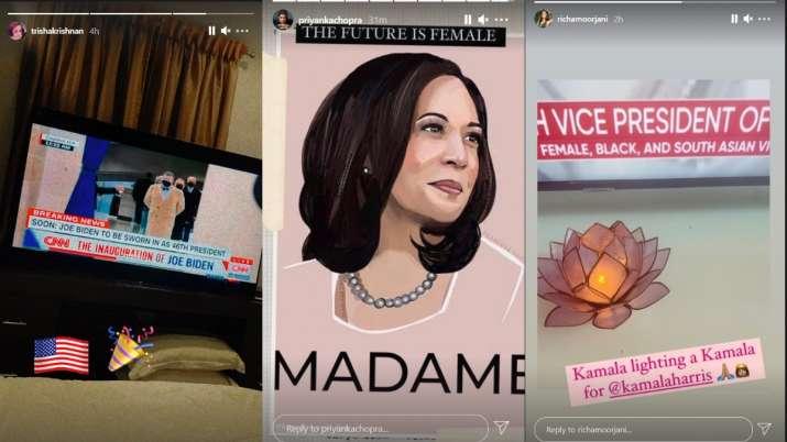 India Tv - Priyanka Chopra, Sushmita Sen, other B-town celebs congratulate Joe Biden and Kamala Harris